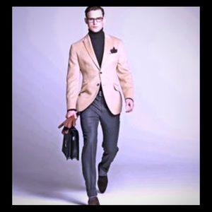 NEW Bespoke 💯% CAMEL 🐫 Hair Men's Blazer Suit